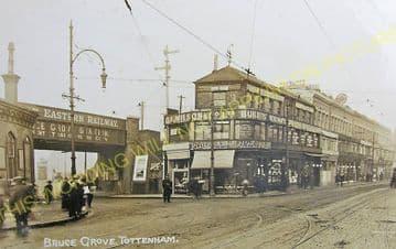 Bruce Grove Railway Station Photo. Seven Sisters - Lower Edmonton. (3)