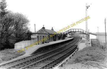 Brucklay Railway Station Photo. Maud Jct. - Strichen. Fraserburgh Line. GNSR (1)..