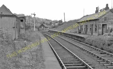 Brymbo Railway Station Photo. Wrexham - Ffrith, Coed Talon and Mold Line. (4)
