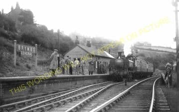 Brymbo Railway Station Photo. Wrexham - Ffrith, Coed Talon and Mold Line. (8)