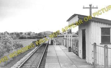 Bryngwyn Railway Station Photo. Llanfyllin - Llanfechain. Llanymynech Line (1)