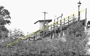 Bryngwyn Railway Station Photo. Llanfyllin - Llanfechain. Llanymynech Line (8).