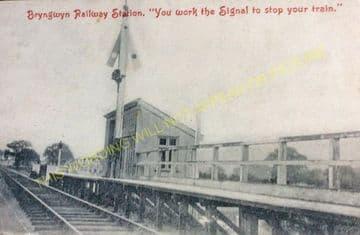 Bryngwyn Railway Station Photo. Llanfyllin - Llanfechain. Llanymynech Line (9).