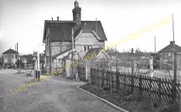 Buckden Railway Station Photo. Huntingdon - Grafham. Kimbolton Line. (9).