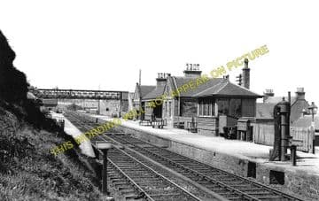 Buckie Railway Station Photo. Buckpool - Portessie. Elgin to Portsoy Line. (1)