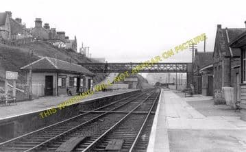 Buckie Railway Station Photo. Buckpool - Portessie. Elgin to Portsoy Line. (2)