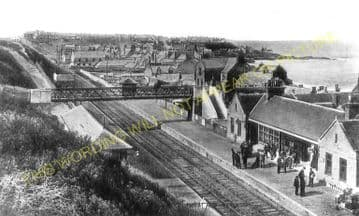Buckie Railway Station Photo. Buckpool - Portessie. Elgin to Portsoy Line. (4)