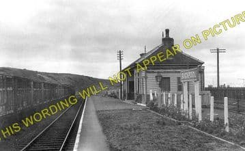 Buckpool Railway Station Photo. Port Gordon - Buckie. Elgin to Portessie. (1)