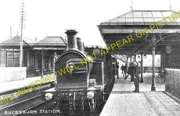 Bucksburn Railway Station Photo. Persley - Bankhead. Aberdeen to Dyce Line. (1)..