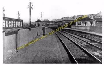Bucksburn Railway Station Photo. Persley - Bankhead. Aberdeen to Dyce Line. (3)