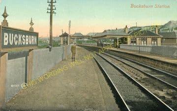 Bucksburn Railway Station Photo. Persley - Bankhead. Aberdeen to Dyce Line. (4)