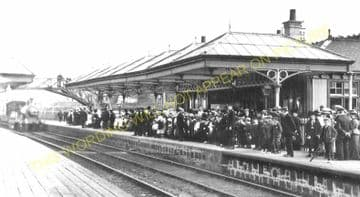 Bucksburn Railway Station Photo. Persley - Bankhead. Aberdeen to Dyce Line. (5)