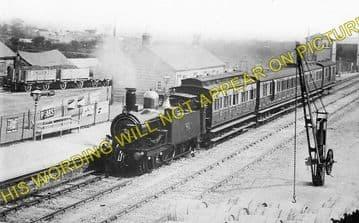Bugle Railway Station Photo. Luxulyan - Roche. St. Blazey to Newquay Line. (1)