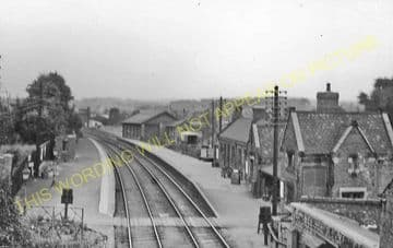Bulwell Market Railway Station Photo. Basford - Hucknall. Nottingham Line. (6)