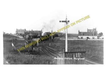 Burghead Railway Station Photo. Hopeman - Coltfield. Alves Line. Highland. (1)..