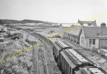 Burghead Railway Station Photo. Hopeman - Coltfield. Alves Line. Highland. (4)