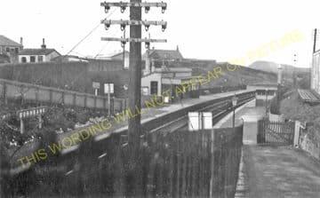 Burnbank Railway Station Photo. Hamilton -Bothwell. North British Railway. (1)..