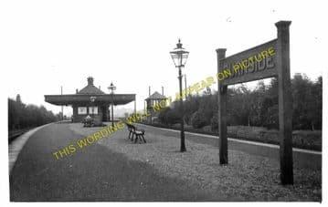 Burnside Railway Station Photo. Cathcart - Kirkhill. Caledonian Railway. (1).