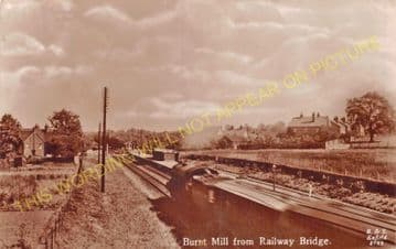 Burnt Mill Railway Station Photo. Roydon - Harlow. Broxbourne to Stansted. (6)