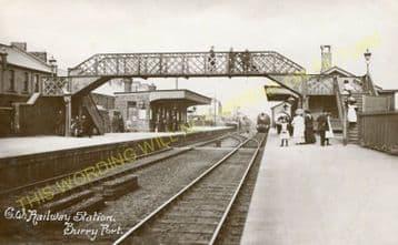 Burry Port Railway Station Photo. Llanelly - Kidwelly. Great Western Railway (1)..