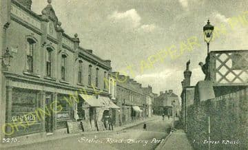 Burry Port Railway Station Photo. Llanelly - Kidwelly. Great Western Railway (2)..