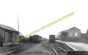 Burry Port Railway Station Photo. Llanelly - Pembrey. Pinged Line. BP&GVR. (1)..