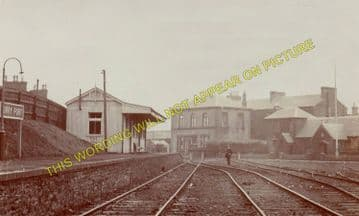 Burry Port Railway Station Photo. Llanelly - Pembrey. Pinged Line. BP&GVR. (3)