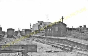 Burry Port Railway Station Photo. Llanelly - Pembrey. Pinged Line. BP&GVR. (5)