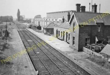 Burwell Railway Station Photo. Fordham - Swaffham Prior. Barnwell Line (10)