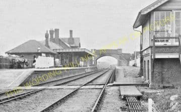 Burwell Railway Station Photo. Fordham - Swaffham Prior. Barnwell Line (9)