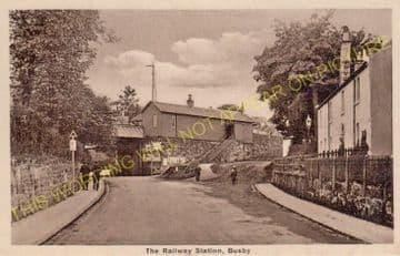 Busby Railway Station Photo. Clarkston - Thontonhall. Caledonian Railway. (2)