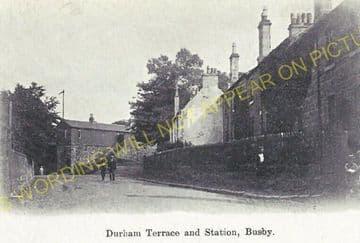 Busby Railway Station Photo. Clarkston - Thontonhall. Caledonian Railway. (4)