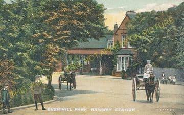 Bush Hill Park Railway Station Photo. Edmonton - Enfield Town. Great Eastern (4)