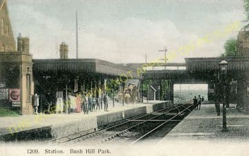Bush Hill Park Railway Station Photo. Edmonton - Enfield Town. Great Eastern (7)