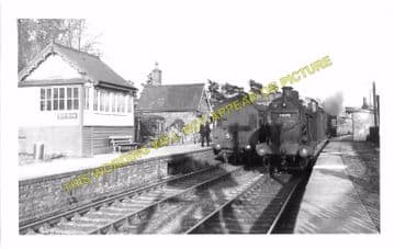 Byfield Railway Station Photo. Fenny Compton- Morton Pinkney. Towcester Line (5)