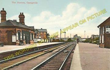 Caergwrle Castle Railway Station Photo. Cefn-y-Bedd - Hope Village. GCR. (10)