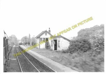 Caergwrle Castle Railway Station Photo. Cefn-y-Bedd - Hope Village. GCR. (6)