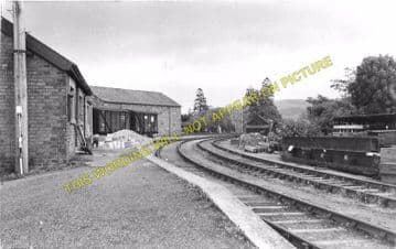 Caersws Railway Station Photo. Moat Lane Junction to Pontdolgoch & Van Lines (4)