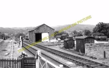 Caersws Railway Station Photo. Moat Lane Junction to Pontdolgoch & Van Lines (6)