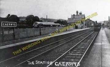 Caerwys Railway Station Photo. Bodfari - Nannerch. Denbigh to Mold Line. (1)