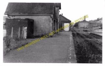 Caerwys Railway Station Photo. Bodfari - Nannerch. Denbigh to Mold Line. (2)