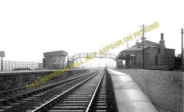 Calder Railway Station Photo. Coatbridge to Airdrie and Calderbank Lines. (1).
