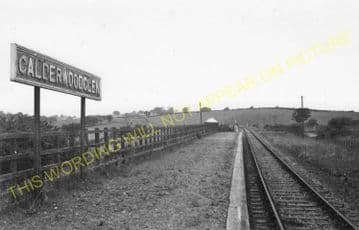 Calderwood Glen Railway Station Photo. Blantyre - East Kilbride. (1).