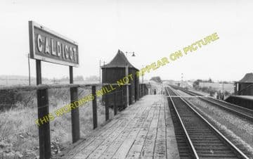 Caldicot Railway Station Photo. Portskewett - Severn Tunnel Junction. GWR. (1)