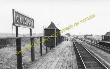 Caldicot Railway Station Photo. Portskewett - Severn Tunnel Junction. GWR. (1)