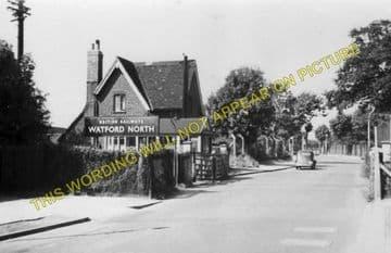 Callowland Railway Station Photo. Watford - Brickett Wood and St. Albans. (8)