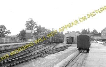 Calne Railway Station Photo. Stanley Bridge and Chippenham Line. GWR. (1)