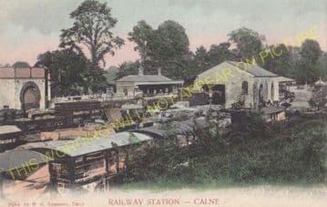 Calne Railway Station Photo. Stanley Bridge and Chippenham Line. GWR. (13)