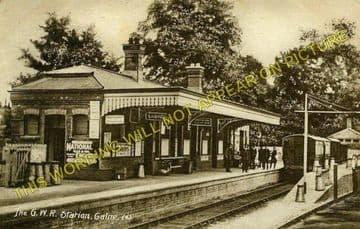 Calne Railway Station Photo. Stanley Bridge and Chippenham Line. GWR. (3)