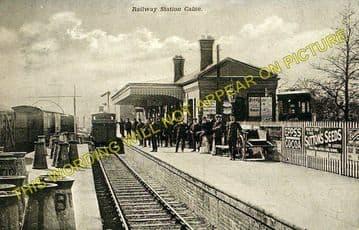 Calne Railway Station Photo. Stanley Bridge and Chippenham Line. GWR. (4)